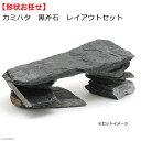 カミハタ 黒斧石 レイアウトセット 形状おまかせ 関東当日便