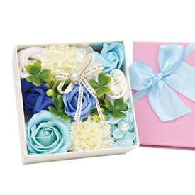 SAVON FLOWER リボンローズ BOX ブルー 関東当日便