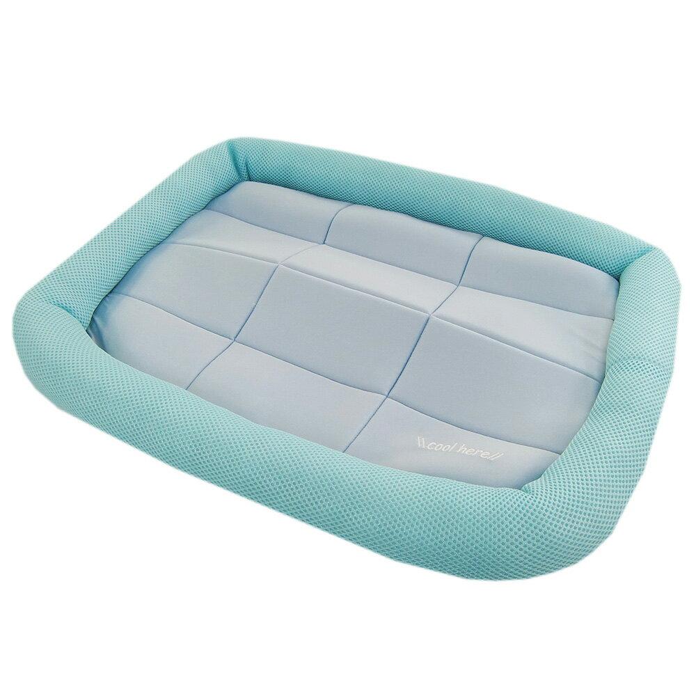 アスク 超冷感メッシュクール マットベッド M ライトブルー 洗えるベッド 接触冷感生地 関東当日便