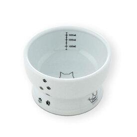 猫壱 ハッピーダイニング 脚付ウォーターボウル シリコン付き 猫柄 猫用 関東当日便