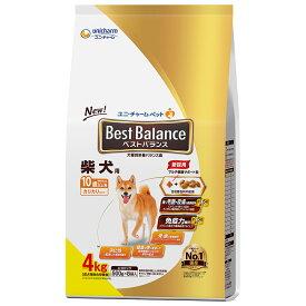 ベストバランス カリカリ仕立て 柴犬用 10歳以上用 4kg(500g×8袋) 関東当日便