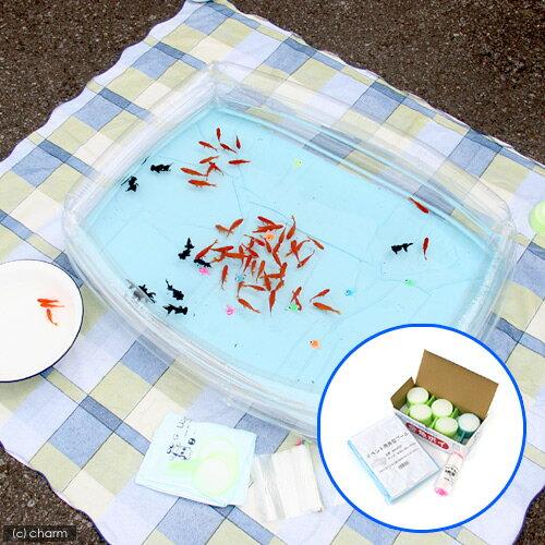 金魚すくい3点セット 金魚袋+ポイ+角型プール お祭り 縁日 関東当日便