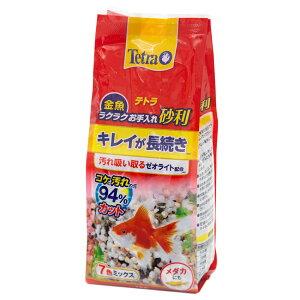 テトラ 金魚 ラクラクお手入れ砂利 7色ミックス 1kg ゼオライト配合 汚れ防止 苔防止 関東当日便