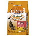 AllWell 室内猫用 チキン味 挽き小魚とささみフリーズドライパウダー入り 1.6kg(400g×4袋) 関東当日便