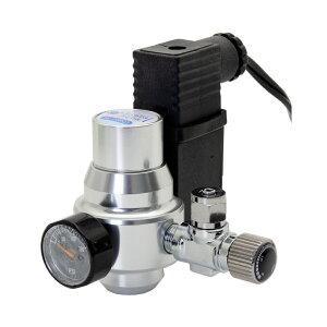 クリスタルアクア CO2レギュレーター スピコン・レギュレーター・電磁弁一体型 小型ボンベ用 二酸化炭素添加 水草 沖縄別途送料 関東当日便