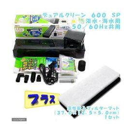 デュアルクリーン 600 SP + 活性炭入フィルターマット 1セット 関東当日便