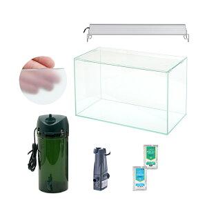 □60cm水槽セット サンゴ簡易育成カスタム 海水アクアリウム用品(水槽・LEDライト&他6点)プロ推奨セット 60Hz 沖縄別途送料 関東当日便