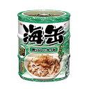アイシア 海缶ミニ3P 削りぶし入りかつお 60g×3缶パック キャットフード 関東当日便
