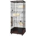 □(大型)ペティオ necoco 仔猫からのしつけにもぴったりなキャットルーム 3段タイプ 別途大型手数料・同梱不可 …