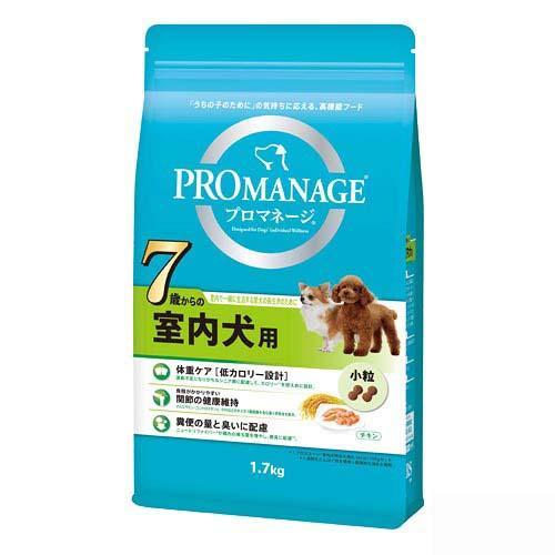 プロマネージ 7歳からの室内犬用 1.7kg 4袋 関東当日便