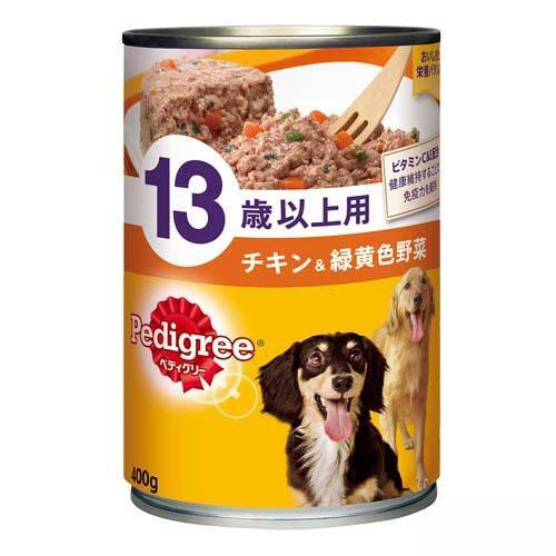 箱売り ペディグリー 13歳用 チキン&緑黄色野菜 400g 1箱24缶【HLS_DU】 関東当日便
