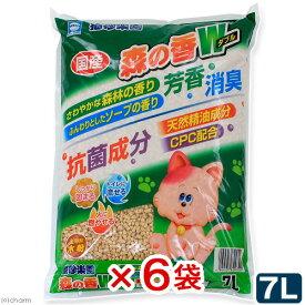 猫砂 アースバイオ 猫砂楽園 森の香ダブル 7L 6袋入り お一人様1点限り 関東当日便