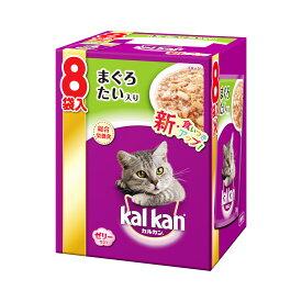 カルカン パウチ ジューシーゼリー仕立て まぐろとたい 成猫用 70g 8袋パック キャットフード 関東当日便