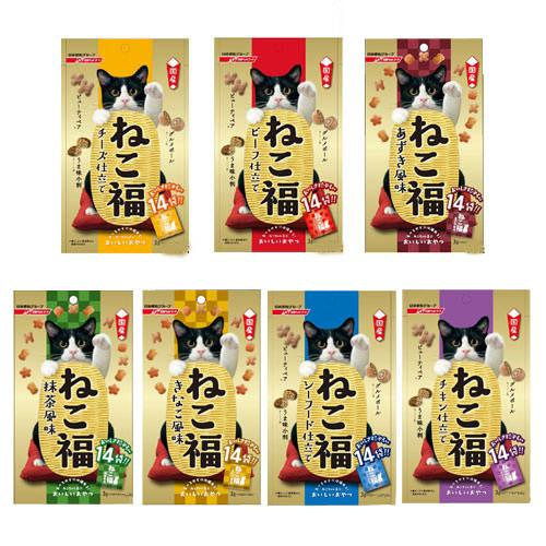 アソート ねこ福 3g×14包 6種6袋 キャットフード おやつ 国産 日清【HLS_DU】 関東当日便