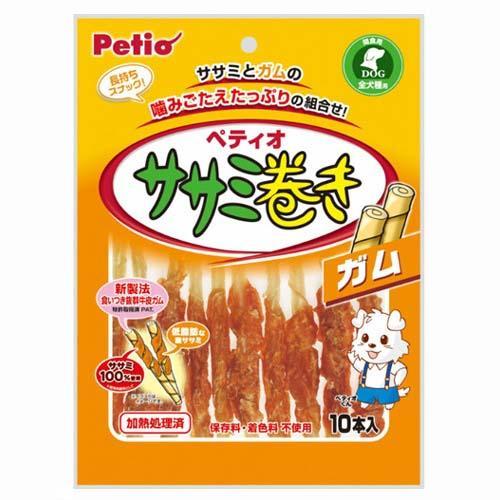 お買得セット ペティオ ササミ巻き ガム 10本入 6袋 関東当日便