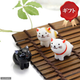A petit gift glass collection entrusting you stands; cat three set gift specifications cat miscellaneous goods Kanto day flight