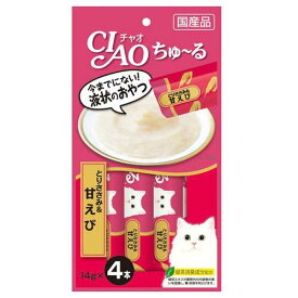 いなば CIAO(チャオ) ちゅ〜る とりささみ&甘えび 14g×4本 6袋 国産 関東当日便
