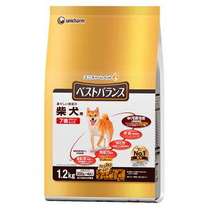 ベストバランス カリカリ仕立て 柴犬用 7歳以上用 チキン・野菜・小魚・玄米入り 1.2kg(300g×4袋) 関東当日便