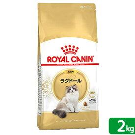 ロイヤルカナン 猫 ラグドール 成猫用 生後12ヵ月齢から12歳まで 2kg ジップ付(キャットフード ドライ) 関東当日便
