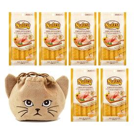猫巾着おまけ付 ニュートロ とろけるチキン&サーモン 4本入り×6袋 関東当日便