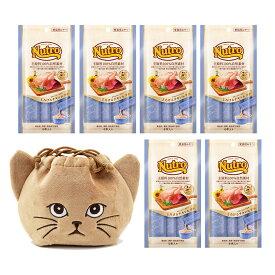 猫巾着おまけ付 ニュートロ とろけるチキン&ツナ 4本入り×6袋 関東当日便