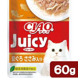 いなば CIAO Juicy まぐろ ささみ入り 60g 関東当日便