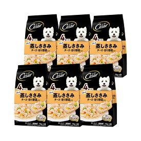 シーザー パウチ ふっくら蒸しささみ チーズ・彩り野菜入り 70g×4袋 6袋入り 関東当日便