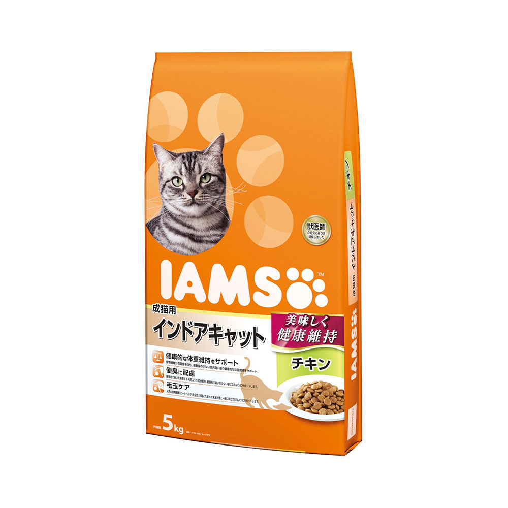 アイムス 成猫用 インドアキャット チキン 5kg キャットフード 正規品 IAMS 関東当日便