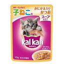 お買得セット カルカン パウチ スープ仕立て 12ヶ月までの子ねこ用 かにかま入りかつお 70g キャットフード カルカン 6袋入 関東当日便