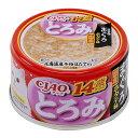いなば CIAO(チャオ) とろみ 14歳からのささみ・まぐろ ホタテ味 80g キャットフード 国産 6缶 関東当日便