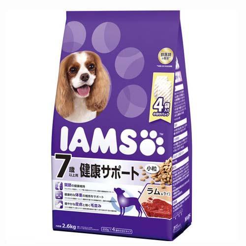箱売り アイムス 7歳以上用 健康サポート ラム&ライス 小粒 2.6kg 1箱4袋入り【HLS_DU】 関東当日便