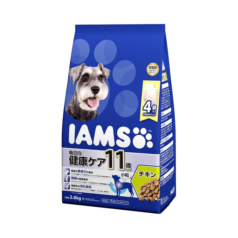 アイムス 11歳以上用 毎日の健康ケア チキン 小粒 2.6kg 4袋入り 関東当日便
