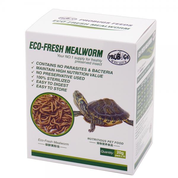 プロバグズ 真空生昆虫 ミルワーム 1箱(20g×10袋入) PROBUGS ECO-FRESH MEALWORM【HLS_DU】 関東当日便