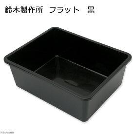 鈴木製作所 角型タライ フラット 黒 ビオトープ めだか お一人様6点限り 関東当日便