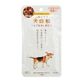 わんわん 犬日和 レトルト エゾ鹿肉と野菜 60g 12袋入り 関東当日便