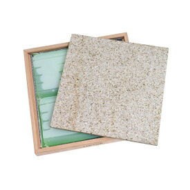ひえひえクールすぽっと 天然みかげ石40×40 ベージュ+ウッドフレームセット(保冷剤付)(W43.5×D43.5×H5.0cm) 関東当日便