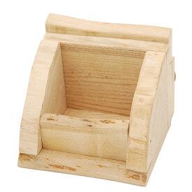 天然素材のえさ箱 国産くりの木 かじっても安心 食器 かじり木 乾燥くりの木 えさ入れ ハンドメイド 関東当日便