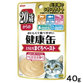 アイシア 健康缶パウチ 20歳からのとろとろまぐろペースト 40g 関東当日便