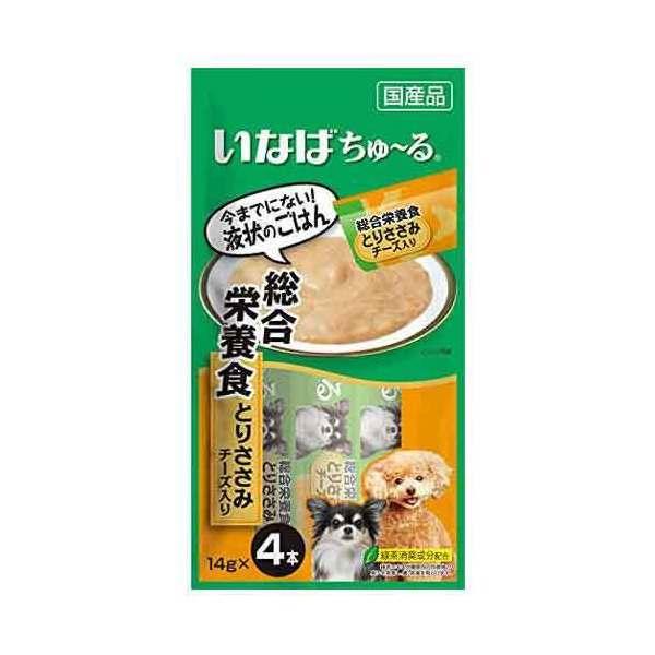 いなば ちゅ〜る 総合栄養食 とりささみ チーズ入り14g×4本 犬用 関東当日便