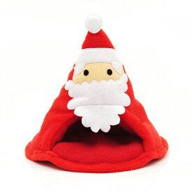 小動物のぬくぬくハウス クリスマスサンタ ハンドメイド ハリネズミ デグー 関東当日便