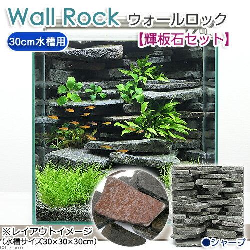 ウォールロック シャープ 30cm水槽用+輝板石セット 沖縄別途送料