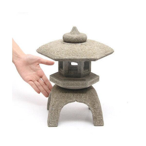 和風石材 古代雪見灯篭 高さ28cm 沖縄別途送料 水槽用オブジェ アクアリウム用品