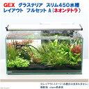 (熱帯魚)(水草)GEX グラステリア スリム450 レイアウトフルセットA(ネオンテトラ)水槽セット 本州・四国限定