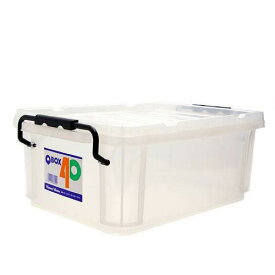 QBOX−40 (385×265×150mm) 1個 クワガタ カブトムシ 飼育ケース コンテナ ボックス 産卵 ブリード 関東当日便