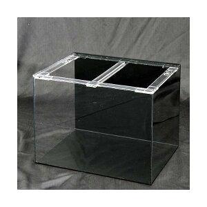 □メーカー直送 アクリル水槽 アクリルクリアタンク 底面・背面板黒(60×45×45cm・板厚5×5×5mm) 60cm水槽 同梱不可・別途送料