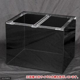 □メーカー直送 (受注生産)アクリルクリアタンク 底面・背面・側面板黒(120×45×45cm) 同梱不可 別途送料