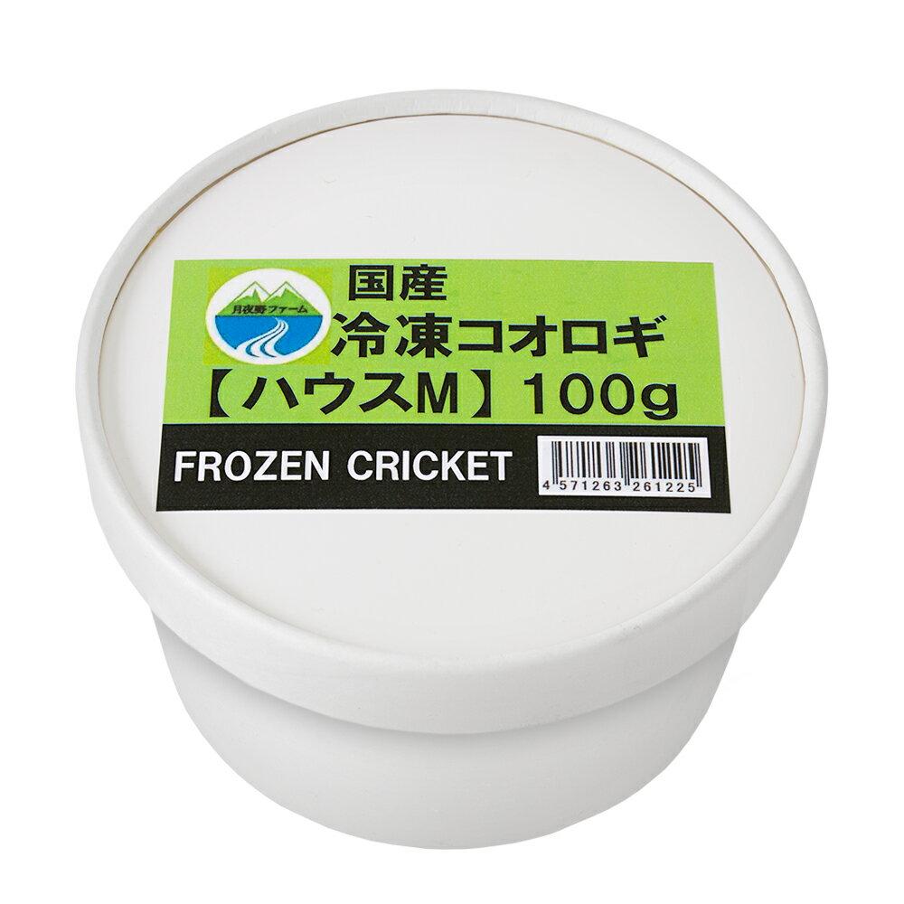 冷凍★イエコM 100g 月夜野ファーム 冷凍コオロギ 国産 別途クール手数料 常温商品同梱不可 お一人様2点限り