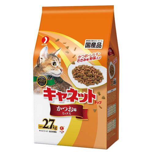 キャネットチップ かつお味ミックス 2.7kg キャットフード 国産 お一人様6点限り 関東当日便
