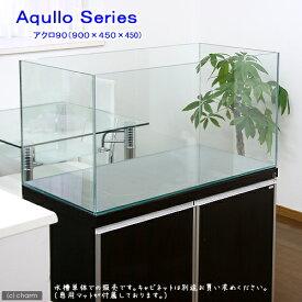 (大型)90cm水槽(単体)アクロ90N(90×45×45cm)フタ無し オールガラス水槽 別途大型手数料・同梱不可