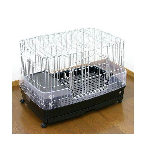 同梱不可・中型便手数料 マルカン クリアケージ M (82×56.5×60.5cm) ウサギ チンチラ フェレット 才数170